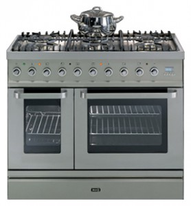Photo Kitchen Stove ILVE TD-90FL-VG Stainless-Steel