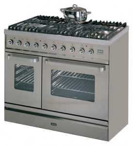 Photo Kitchen Stove ILVE TD-90FW-VG Stainless-Steel