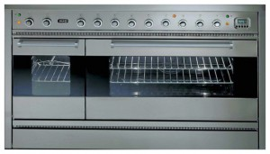 Photo Kitchen Stove ILVE P-120B6-VG Stainless-Steel