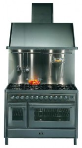 Photo Kitchen Stove ILVE MT-120FR-MP Green